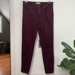 "Madewell 9"" High Riser Skinny Jeans Wine"